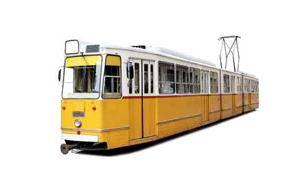Orange tram Stock Photo - 18854779