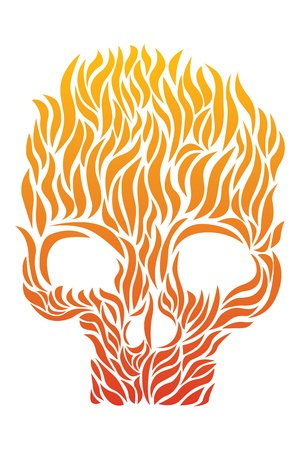 Skull of Flame Vector