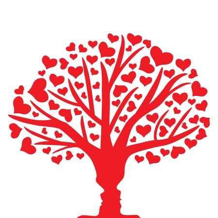 wedding symbol: Tree of love Illustration