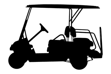 golf cart vector illustration   イラスト・ベクター素材