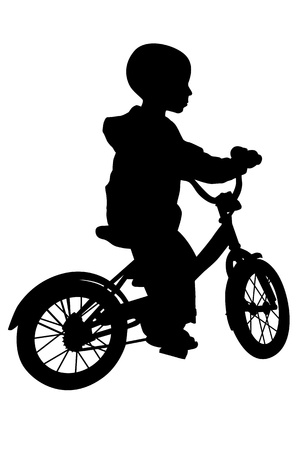 mtb: boy and bicycle silhouette