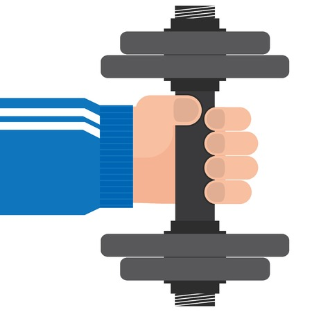 character traits: hand and dumbbell