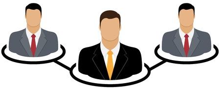 corporate hierarchy: Corporate hierarchy concept Illustration
