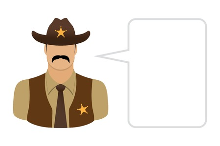 character traits: Sheriff, Avatars and User Icons Illustration