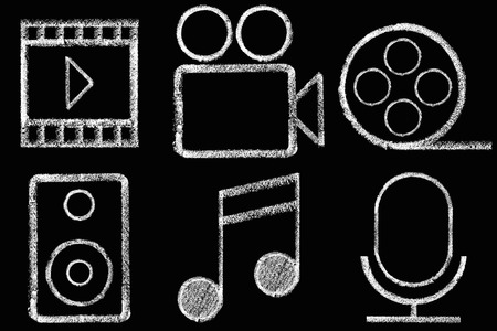 Sketched internet icons set Stock Photo - 30549543