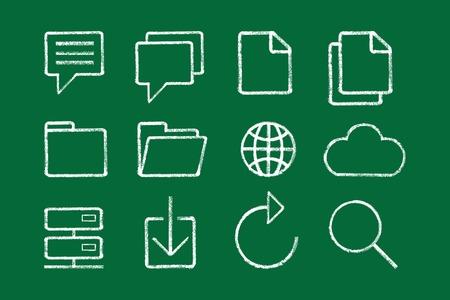sketched icons: Bosquejada iconos de internet vector Vectores