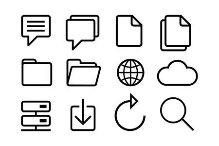 tweet icon: Sketched internet icons vector