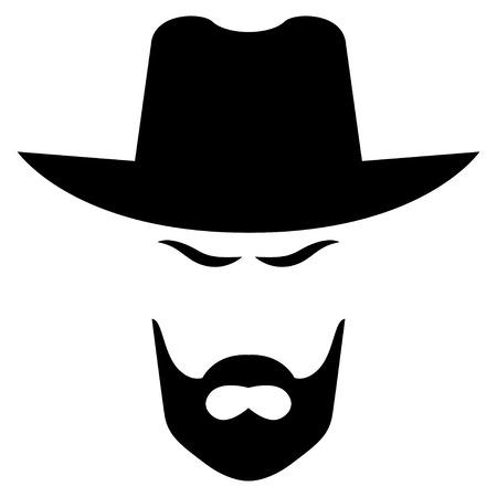 unrecognizable person: American cowboy head