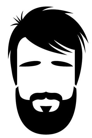 bearded man: Bearded man illustration Illustration