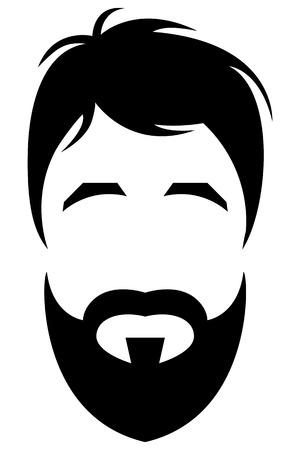 ひげを生やした若い男  イラスト・ベクター素材
