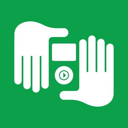 audio player: hand audio player