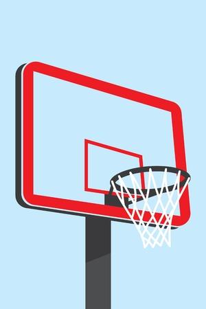 basketball net: Ilustraci�n de una red de baloncesto complejo que incluye el tablero de baloncesto.
