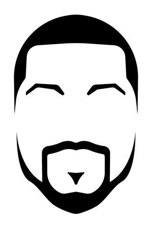 afro stlye grunge illustration isolated on white background
