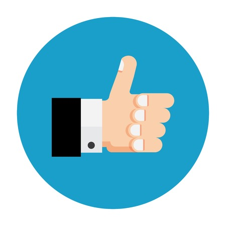 Vector eps10. Thumb up icon, flat design