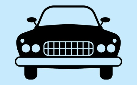 Silhouette car is not associated with any brand. Perfect for car advertising auto accessories. Illustration