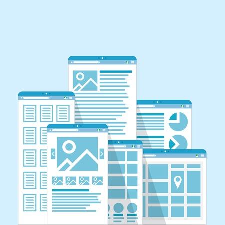 website window: Different browser windows