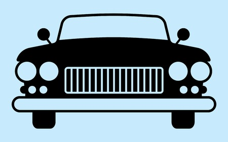 associated: Silhouette car is not associated with any brand. Perfect for car advertising auto accessories. Illustration