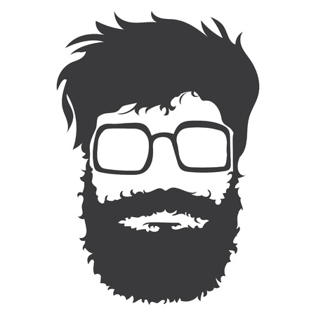bearded man: Bearded man illustration Illustration