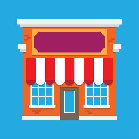 boutique display: Shop building Illustration