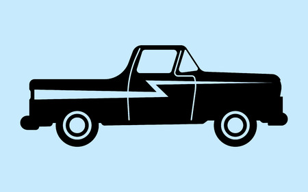 wrangler: Silhouette car is not associated with any brand. Perfect for car advertising auto accessories. Illustration
