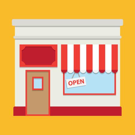 forepart: Shop building Illustration