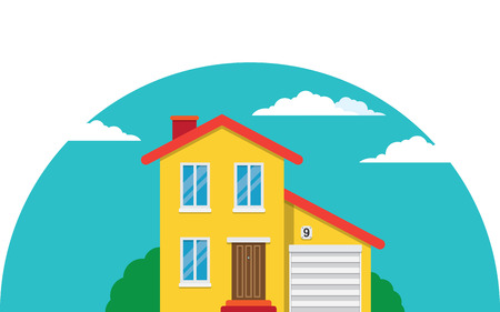 simple house: Vector simple house for your advertisement, design and logo