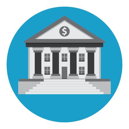 derecho romano: Edificio del Banco en el estilo de un templo griego o romano cl�sico.