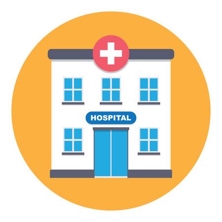 ambulancia: Edificio del hospital Vectores
