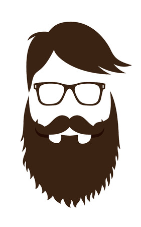 Fashion silhouette hipster style, flat vector illustration