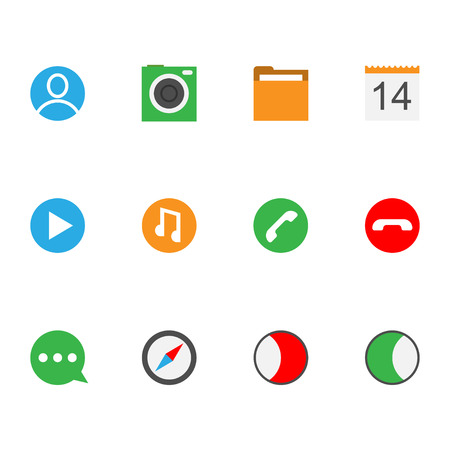 interface icon: interface icon collection  for your design or application. Illustration