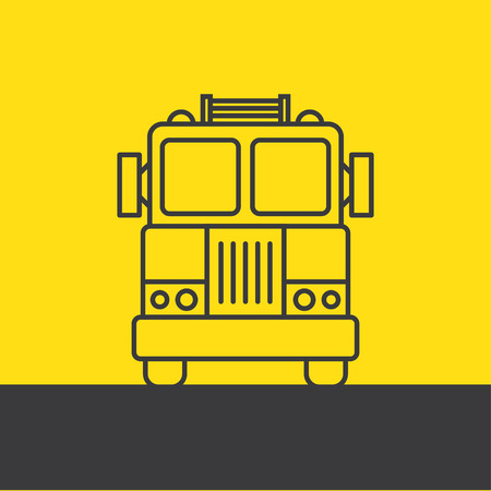 isolation: Fire Engine - background line vector illustrations Isolation Illustration