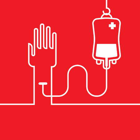 rh: donate blood graphic design , vector illustration