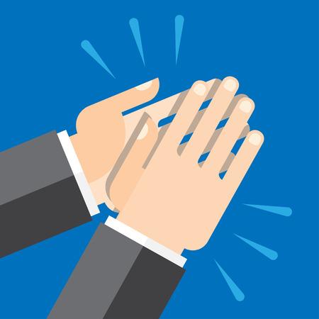 reconocimiento: Las manos aplaudiendo símbolo. Vector para aplicaciones móviles, sitios web y proyectos de impresión.