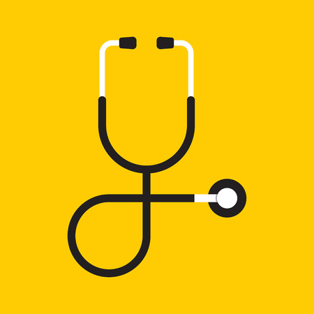 doctor symbol: Vector of stethoscope icon on isolated background
