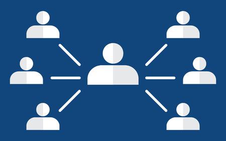 jerarquia: Organigrama con iconos de personas. concepto de jerarqu�a corporativa. pir�mide de recursos humanos. infograf�a elemento del vector.