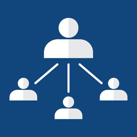 jerarquia: Organigrama con iconos de personas. concepto de jerarquía corporativa. pirámide de recursos humanos. infografía elemento del vector.