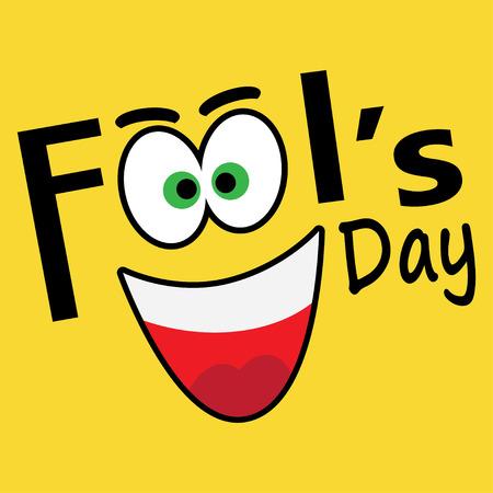 pranks: vector illustration Celebrating laughter Day inscription background