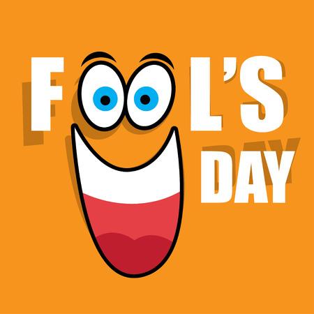april clipart: vector illustration Celebrating laughter Day inscription background