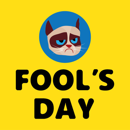 april: vector illustration Celebrating laughter Day inscription background