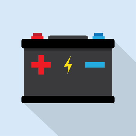 alkaline: Accumulator battery energy power and electricity accumulator battery. Accumulator battery alkaline generation energy. Battery accumulator car auto parts electrical supply power isolated 12v vector. Illustration