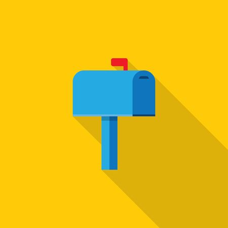 Mailbox vector illustration. Mail box icon in the flat style.