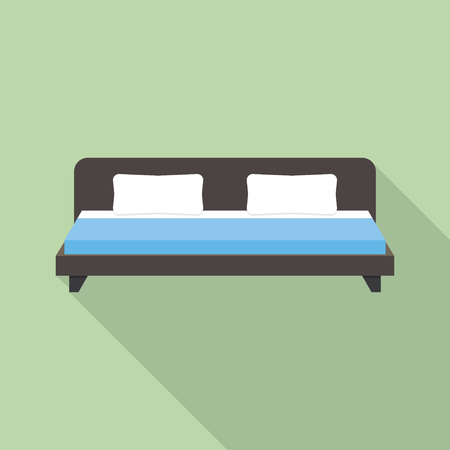 twin bed: double bed icon illustration, double bed icon picture, double bed flat icon