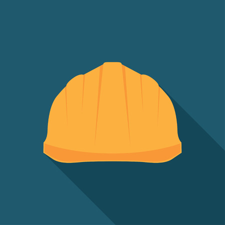 hard hat icon: Construction Helmet Icon. Hard Hat Icon. Helmet Builder Icon. Construction Helmet Icon with long shadow.