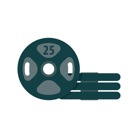 body toning: The weights of the rod used as a removable. Vector illustration