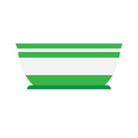 empty bowl: salad bowl is empty on a white background illustration of isolated, flat style