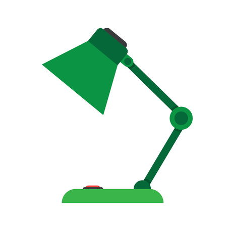 lamplight: Reading-lamp. Single flat icon on white background. Vector illustration. Illustration