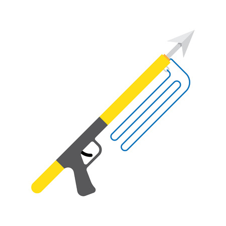spearfishing: Spear gun or harpoon weapon vector isolated, spearfishing,  sport fishing Illustration