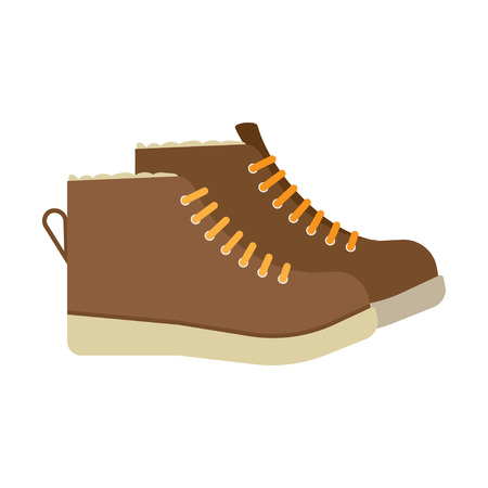 athleticism: winter boots flat icon. vector illustration. Flat icon isolated on a white background