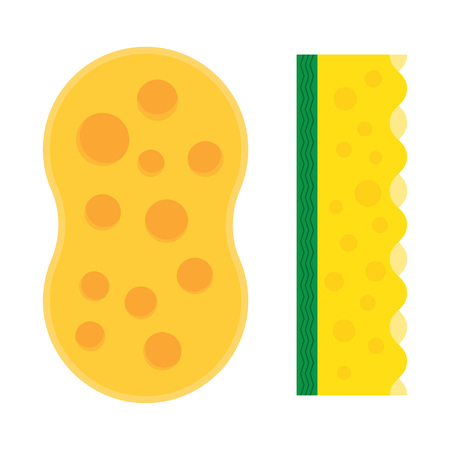 Bath sponge. Kitchenware scouring pads flat icon cartoon spong vector illustration, sponge for ware washing.