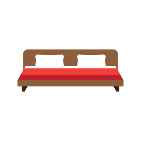 double bed: double bed icon illustration, double bed icon picture, double bed flat icon